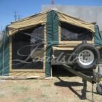 Camper open rear view